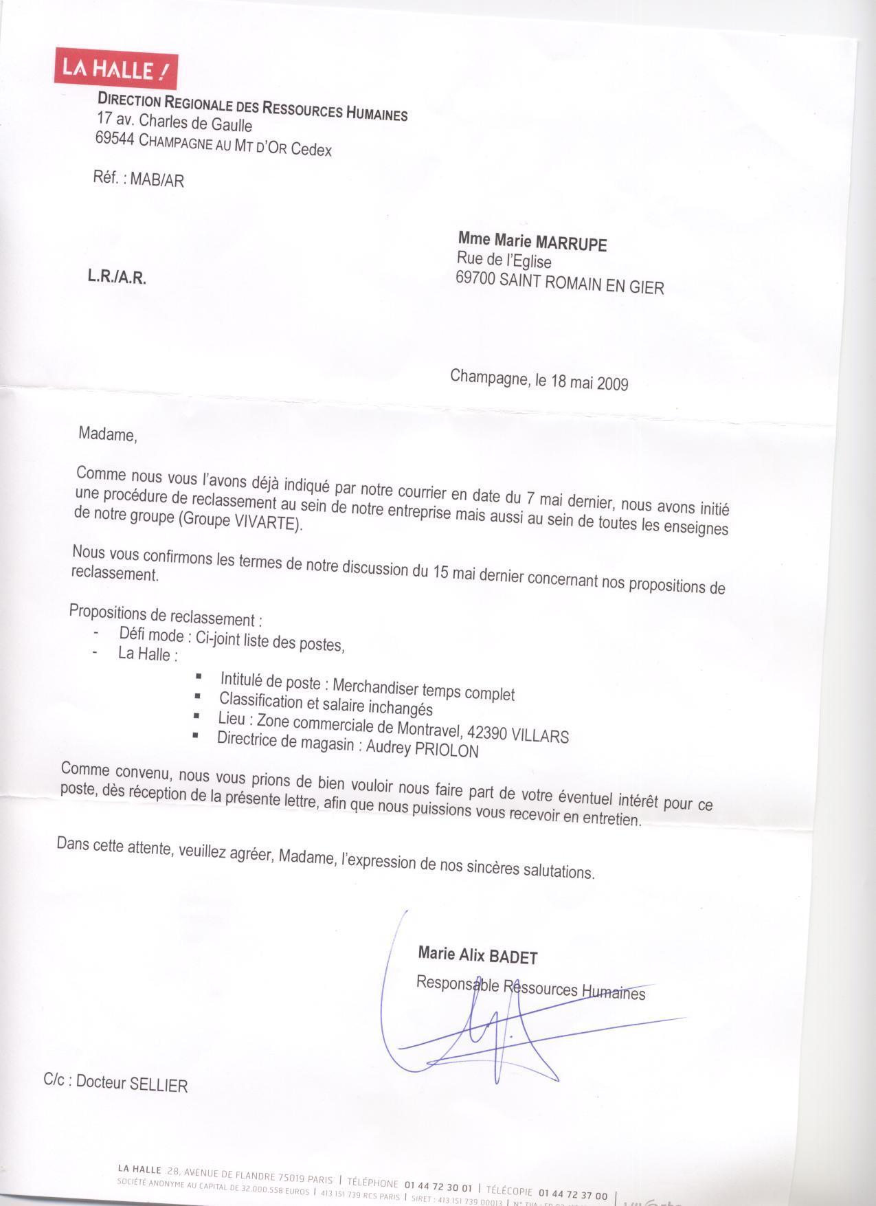modele lettre de refus de reclassement suite inaptitude Refus De La Part De   InsureForAll modele lettre de refus de reclassement suite inaptitude